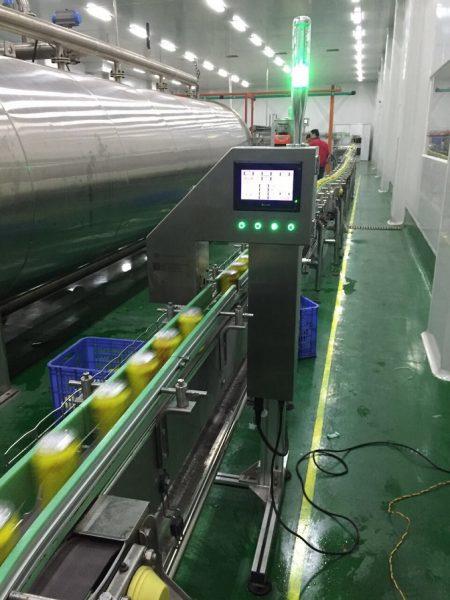 X-ray on-line liquid level detector