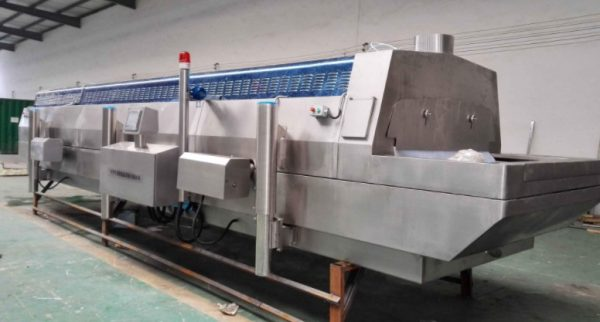 Tunnel type liquid nitrogen quick-freezing machine