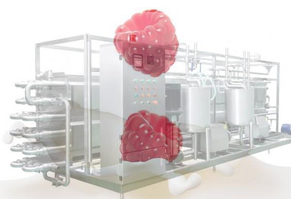 Milk Processing Equipment , PID Control Milk Pasteuriser Machine
