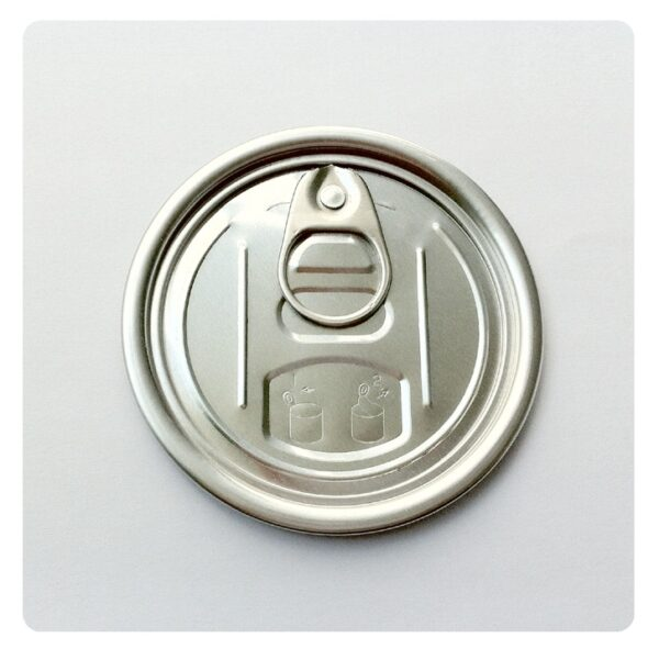 Round aluminum tin can easy open ends manufacture for dried food cans